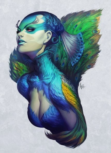 Peacock Queen by Artgerm