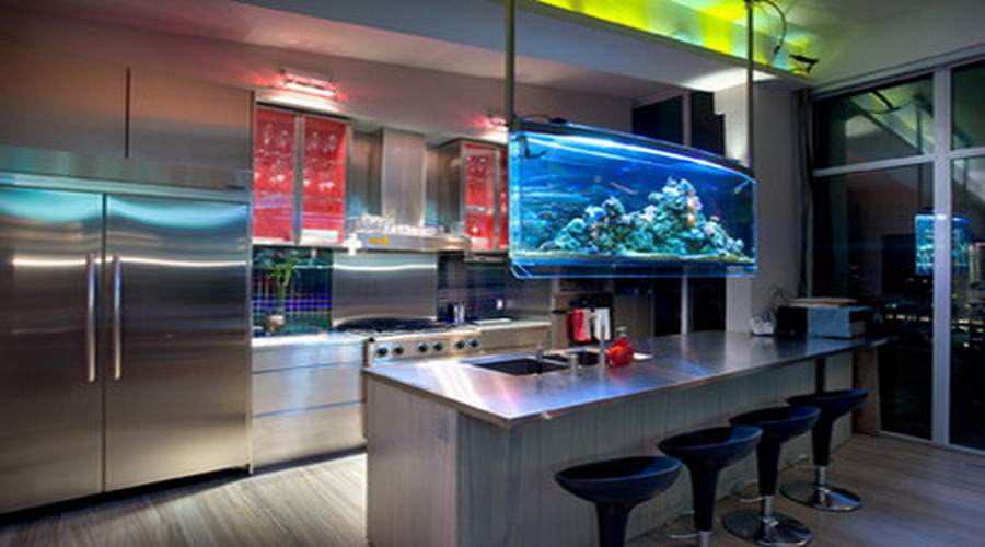Httpsnewgardefileswordpress201410Modernaquarium Interesting Interior Design Of The Kitchen Design Inspiration